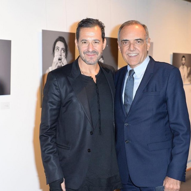 Photographer Stefano Guindani with Alberto Barbera presenting his exhibition hellip